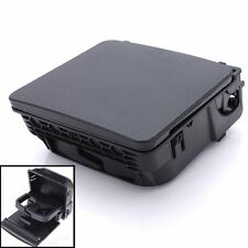 Black Rear Armrest Central Console Cup Holder For VW Jetta MK5 Golf GTI MK6 SR1G