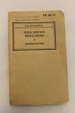 Original WW2 U.S. War Department Field Service Regulations Book,Named to AAF Lt.