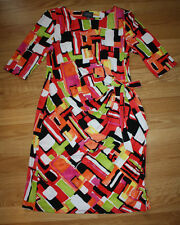 NEW Womens KIARA Red Black White Green Yellow Knee Length Tie Dress S Small