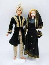 Barbie Ken Black Gold Arabian Nights Indian Fashion Asian Dress Outfit Royalty