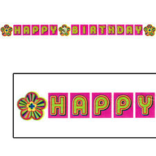 POLLY POCKET PLASTIC HAPPY BIRTHDAY BANNER ~ Party Supplies Room Hanging Decor