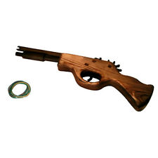 Wooden Gun Rubber Band Launcher Shooting Wood Hand Pistol Toy Child Gifts New