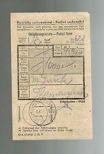 1943 Germany Theresienstadt Ghetto Money Order receipt to prisoner M Dusok KZ