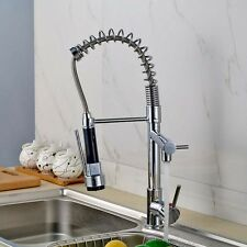 Chrome Solid Brass Water Power Kitchen Faucet Solid Kitchen Tap Swivel Spout  OU
