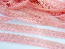 "10 yards Elastic/Stretch Soft Floral Lace 1/2"" Trim/sewing/dress/tool T158-Pink"