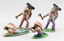 QUIRALU : 4 INDIENS  / jouet ancien
