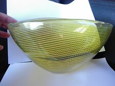 SIGNED MID CENTURY MURANO ARCHIMEDE SEGUSO FILIGRANA LARGE SCARCE GLASS BOWL