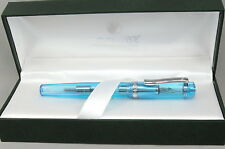 Monteverde Artista Crystal Transparent Turquoise Fountain Pen In Box - 50% OFF