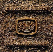 1978 CHRYSLER NEW YORKER & NEWPORT BROCHURE -NEW YORKER-NEWPORT-CHRYSLER
