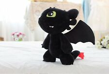 How to Train Your Dragon Toothless Night Fury Stuffed Animal Plush Toy Doll 12''
