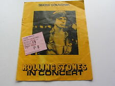 THE ROLLING STONES UK  PROGRAMME  & TICKET  BIRMINGHAM ODEON 1973