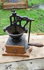 Very rare Antique Cast Iron French Coffee Grinder mill Peugeot A1 1879-1909