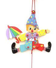 Hampelmann Groß Clown Zieher Kinderzimmer Holzspielzeug Geschenk Taufe Kind neu