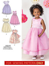 SEWING PATTERN! MAKE GIRLS FANCY DRESS! FLOWER GIRL! TODDLER~CHILD SIZES 1/2~3