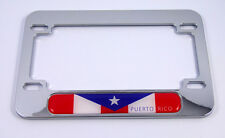 Puerto Rico flag Motorcycle Bike plastic ABS Chrome Plated License Plate Frame