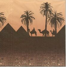 2 Serviettes en papier Egypte Hiéroglyphe Paper Napkins Egyptian Scene Hieroglyp