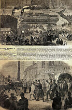 Fenians POLICE in PILSWORTH TAVERN Dublin Ireland 1866 Print Matted and STORY