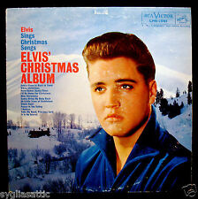 ELVIS PRESLEY-ELVIS' CHRISTMAS ALBUM-RCA VICTOR #LPM 1951-Scarce Long Play Label