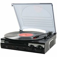 Jensen JTA-230 3 Speed Stereo Turntable,Built in Speakers, Works with Ipod + Mp3