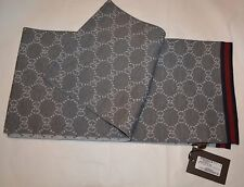 NEW GUCCI WOOL REVERSIBLE GG GUCCISSIMA SCARF MADE IN ITALY