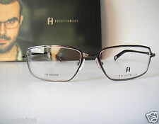 Freudenhaus Titanium Germany 52-18 Solo Gun Eye Glasses Frames Mens H Rimless