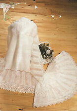Baby Knitting Pattern 2 ply/3 ply Circular Shawl & Square Shawl 2 designs  #199
