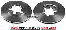 FOR NISSAN NAVARA D22 2WD 2.5TD 02 03 04 05 06 07 FRONT BRAKE DISC SET NON ABS