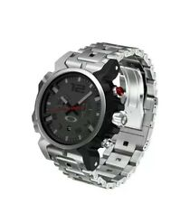 BRAND NEW! Oakley DOUBLE TAP WATCH Stainless Band/Grey Face OW0006-01