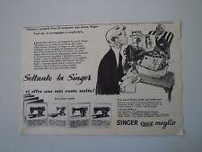 advertising Pubblicità 1956 MACCHINA PER CUCIRE SINGER