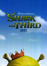 """MOVIE POSTER~Shrek The Third 2007 Double Sided D/S Original 27x40"""" One Sheet~New"""