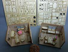 VERFÜHRUNG KIT 2 x Zimmermöbel Wohnzimmer Küche Bastelsets scale 1/144 ohne BOX