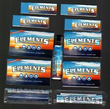 ELEMENTS 1 1/2 & SINGLE WIDE ROLLING PAPERS+70mm+79mm Rollers+Lighter+200 TIPS