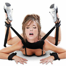 Adult Bondage Collar 4 Way Wrist Ankle Cuffs Set Fetish Restraints BDSM Sex Aid