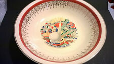 Vintage porcelain large 20cm bowl 1939 New York World Fair exhibition souvenir