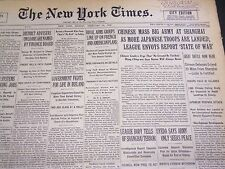 1932 FEBRUARY 15 NEW YORK TIMES - CHINESE MASS BIG ARMY AT SHANGHAI - NT 4792