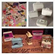 HUGE Lot of BARBIE ACCESSORIES luggage, wind up, shoes, food, dishes, hats...