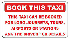 BOOK THIS TAXI STICKER DECAL MINICAB / TAXI / PRIVATE HIRE