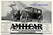 PUBLICITE AUTOMOBILE AMILCAR VOITURE DE GRANDE CLASSE DE 1932 FRENCH AD CAR PUB