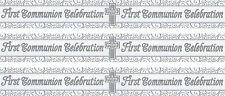 FIRST COMMUNION CELEBRATION SILVER AND WHITE BANNER (EX)