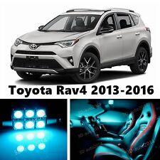 10pcs LED ICE Blue Light Interior Package Kit for Toyota Rav4 2013-2016