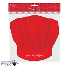 CHILDRENS SANTA'S LITTLE HELPER RED PENGUIN CHEF HAT CHRISTMAS CRAFT BAKING COOK