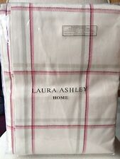"Laura Ashley Corby Check Curtains in Cranberry  64"" x 72"" / 162 x 183cm NEW"