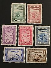 "GReece 1933 ""AIRPOST-GOVERNMENT ISSUE"" Vlastos A15-A21 complete set  $264 MNH"