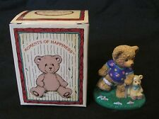 New Russ Berrie Moments of Happiness A Friend to Lean On Teddy Bear Figurine