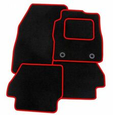 Saab 93 2002-2008 TAILORED CAR FLOOR MATS- BLACK WITH RED TRIM
