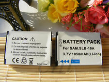2x Battery for SLB-10A Samsung WB210 WB250F WB350F WB800F WB850F WB1100F NEW