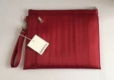 Harveys Seatbelt Bags Red Streamline Pouch Clutch Tablet Holder Padded