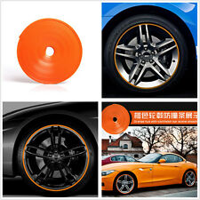 7M Orange Car Wheel Hub Rims Edge Anti Scratch Protector Rings Tire Rubber Strip