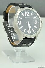 NWT Unisex Watch GUESS Black Leather Classic New W0064G1