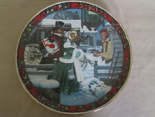CHRISTMAS SONG CHESTNUTS ROASTING collector plate JACK WOODSON Christmas Carol